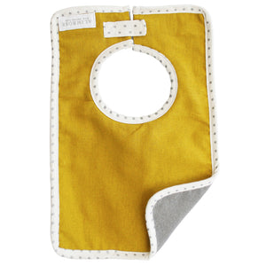 Bobby Bib in Butterscotch Linen