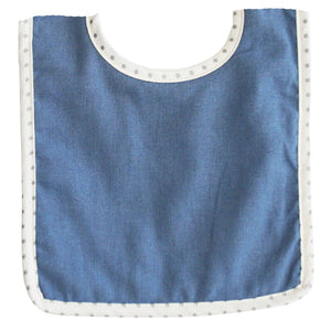 Bobby Bib in Chambray Linen