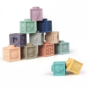Silicone Building Blocks Teether