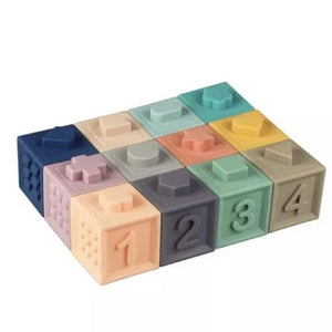 Pastel Silicone Building Blocks Teether