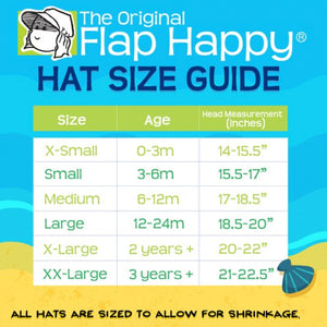 Flap Hat w/ Ties in Vanilla Stripe UPF 50+