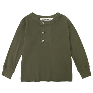 Wide Placket Henley / Moss
