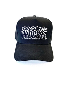 """The Motto"" Black Structured Strapback"