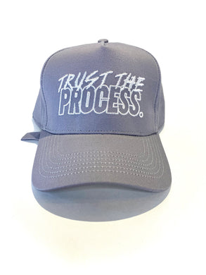 """The Motto"" Grey Structured Strapback"