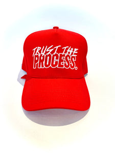 """The Motto"" Red Structured Strapback"