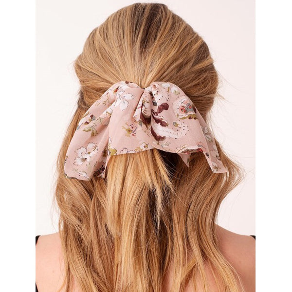 Floral Ribbon Hair Tie
