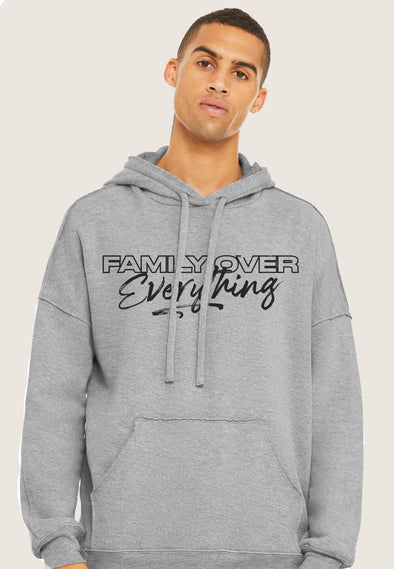 XS (Women 0-2) / Athletic Gray / Raw edge seam Hoodie Family Over Everything 2.0 - Raw Edge Unisex Hoodie - Tony by Toni