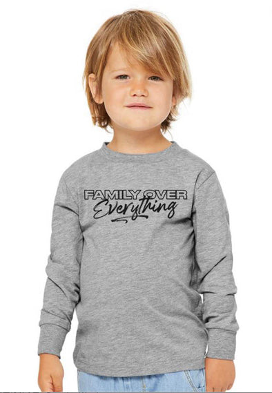 Hoodie Family over Everything 2.0 - Toddler Sleeved Tee - Tony by Toni