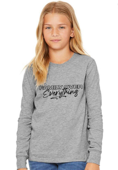 2T / Athletic Gray Hoodie Family over Everything 2.0 - Toddler Sleeved Tee - Tony by Toni