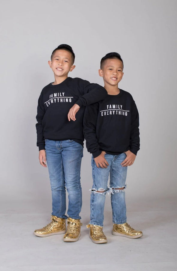 2T / Black sweatshirt Family over Everything Sweatshirt - Kid's Unisex (FINAL SALE) - Tony by Toni