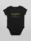 Onesie Daughter logo infant bodysuit matching family tshirt - Gold edition - Tony by Toni