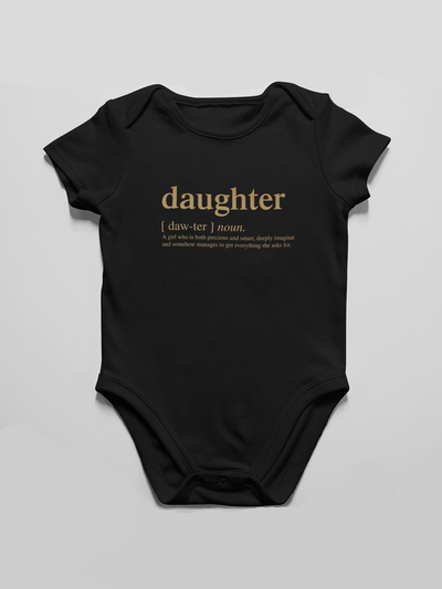 Onesie Daughter Logo Infant Bodysuit - Gold (FINAL SALE) - Tony by Toni