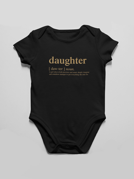 Daughter Logo Matching Family Infant Bodysuit - Gold Edition