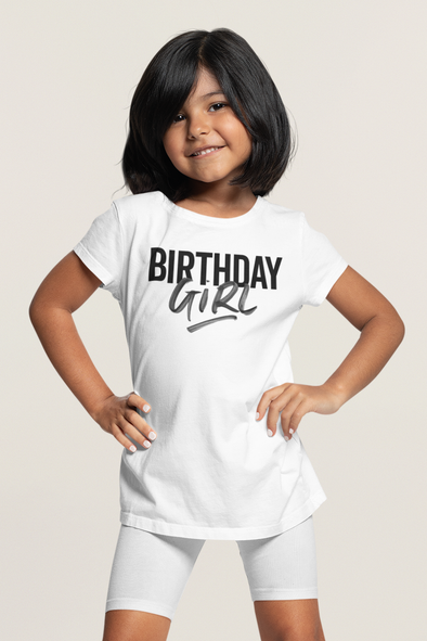 12-18M / White T-shirt It's Your Birthday Girl t-shirt - Tony by Toni
