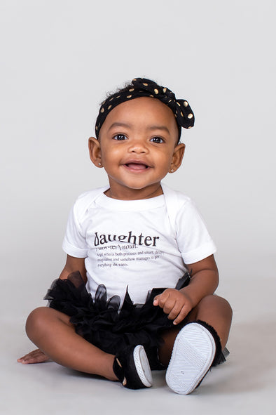 Daughter slogan infant bodysuit