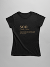 12-18M / Black T-shirt Son slogan t-shirt - gold edition - Tony by Toni