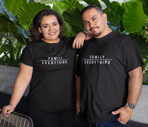 XS (0-2 Women) / Black T-shirt Family over everything t-shirt in black - Unisex (FINAL SALE) - Tony by Toni