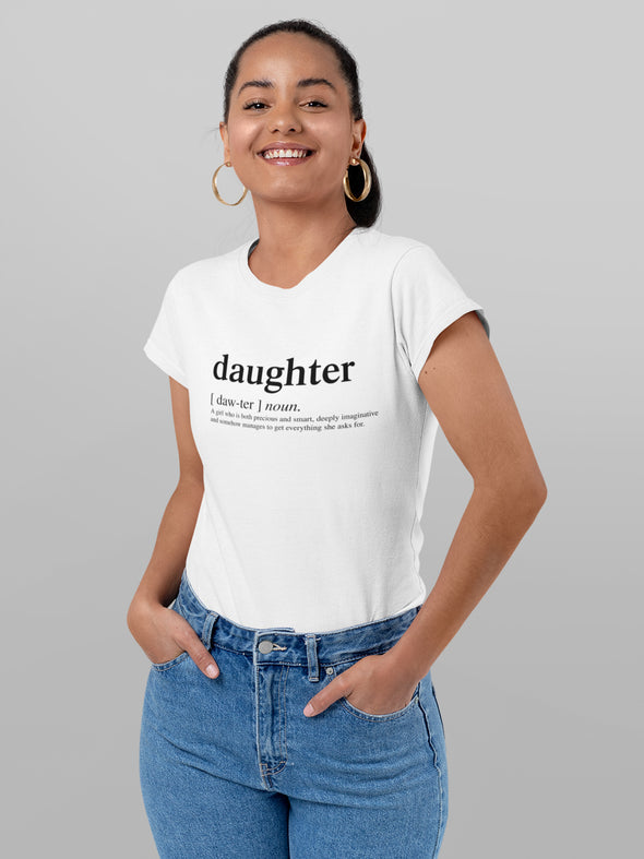 XS (0-2) T-shirt Daughter adult logo matching family tshirts - Tony by Toni