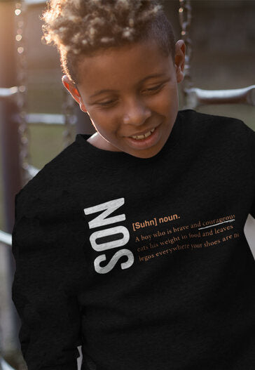 2T / Black sweatshirt Son Logo 2.0 - Toddler/Youth Sweatshirt - Tony by Toni