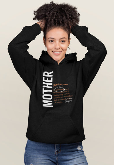 S / Black Hoodie Mother Logo 2.0 - Matching Family Hoodie - Tony by Toni