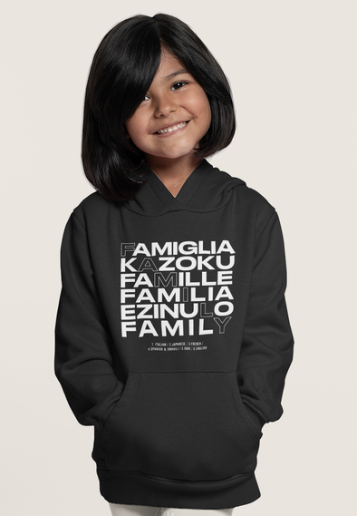 2T / Black Hoodie Family in Every Language - Toddler/Youth Hoodie - Tony by Toni