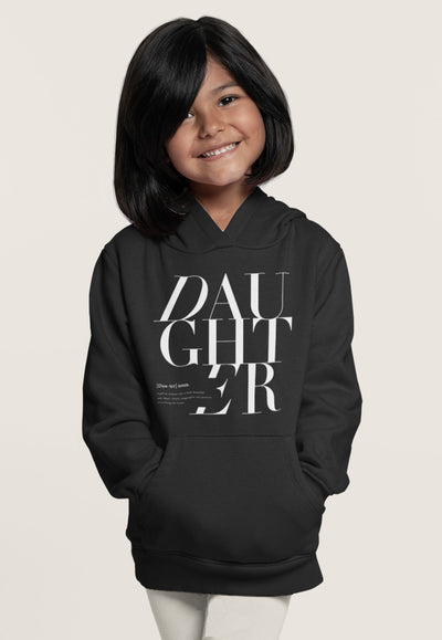 2T / Black Hoodie Daughter Logo Remix - Toddler/Youth Hoodie - Tony by Toni