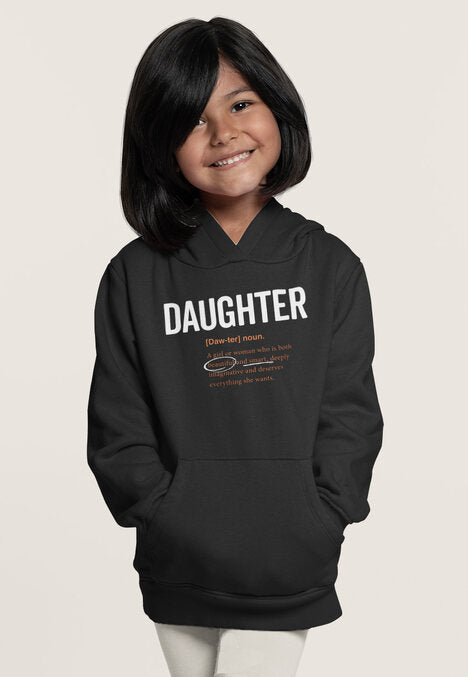 2T / Black Hoodie Daughter Logo 2.0- Toddler/Youth Hoodie - Tony by Toni