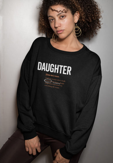 S / Black sweatshirt Daughter Logo 2.0 Sweatshirt - Matching family - Tony by Toni