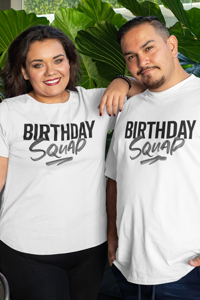 XS (Women 0-2) / White T-shirt It's Your Birthday Squad - unisex crewneck - Tony by Toni