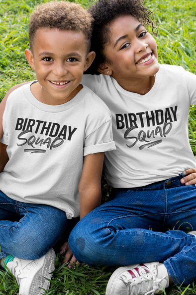 12-18M / White T-shirt It's Your Birthday Squad - unisex crewneck (kids) - Tony by Toni