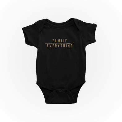 Onesie Family Over Everything Infant Bodysuit - unisex gold edition - Tony by Toni