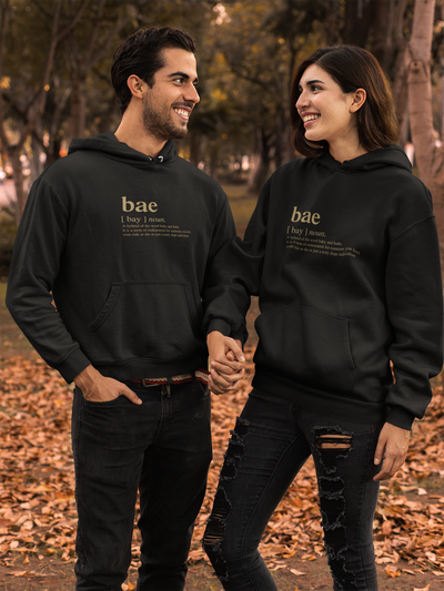 Hoodie Bae slogan unisex fleece hoodie (FINAL SALE) - Tony by Toni