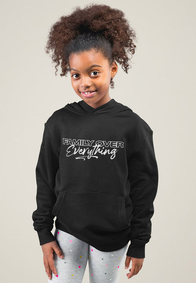 2T / Black Hoodie Family over Everything 2.0 - Toddler/Youth Hoodie Unisex - Tony by Toni