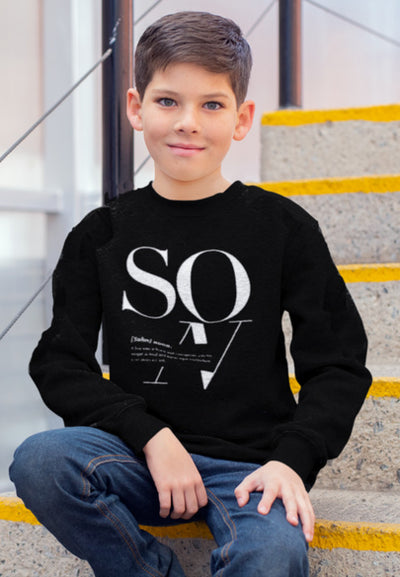 2T / Black sweatshirt Son Logo Remix - Toddler/Youth Sweatshirt - Tony by Toni