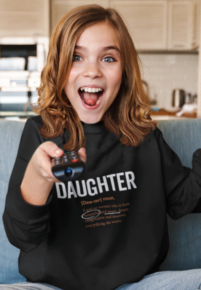 2T / Black sweatshirt Daughter Logo 2.0 - Toddler/Youth Sweatshirt - Tony by Toni