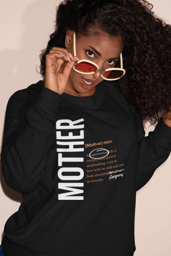 XS (0-2) / Black sweatshirt Mother logo 2.0 matching family sweatshirt - Tony by Toni
