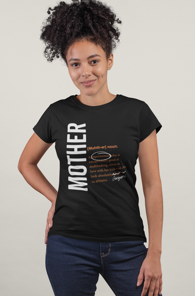 XS (0-2) / Black T-shirt Mother logo 2.0 matching family t-shirt - Tony by Toni