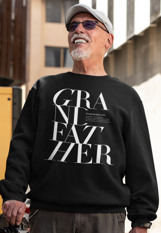 S / Black sweatshirt Grandfather Logo Remix Sweatshirt - Matching family - Tony by Toni