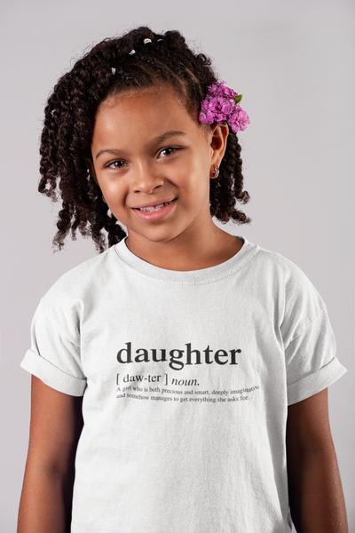 12-18M / White T-shirt Daughter Logo Matching Family Tshirt (FINAL SALE) - Tony by Toni