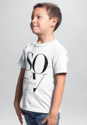 12-18M / White T-shirt Son Logo Remix - Matching Family Tshirt (Kids) - Tony by Toni
