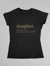 T-shirt Daughter Logo Matching Family Tshirt - Gold Edition - Tony by Toni