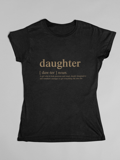 T-shirt Daughter logo family matching tshirt - Gold Edition - Tony by Toni