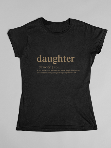 Daughter Logo Matching Family Tshirt - Gold Edition