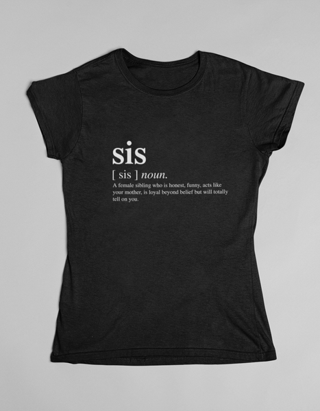 Sis kids T-shirt black and white