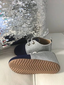Navy sparkle shoes