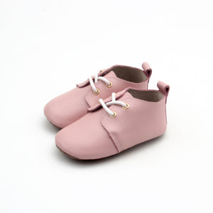 Dusty pink oxford shoes