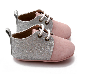 Dusty pink sparkle shoes