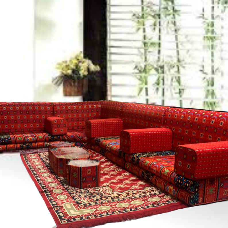 L-Shaped Majlis Sofa Set - Fadhi Carbeed