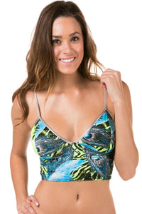 Tropical V Neck Crop