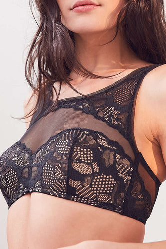 Calvin Klein Black Lace High Neck Bralette